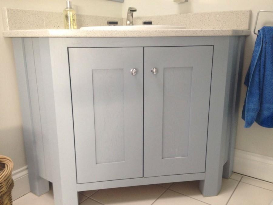Solid oak painted bathroom unit